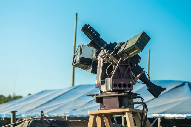 The Autonomous Remote Engagement System, which is mounted on the Picatinny Lightweight Remote Weapon System and coupled with an M240B machine gun, is a subsystem of the Wingman program that reduces the time to identify targets using vision-based automatic target detection and user-specified target selection.