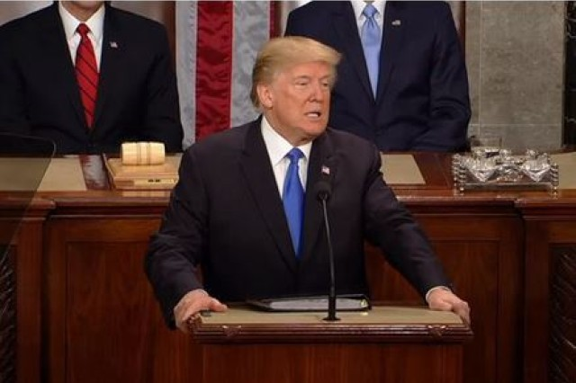 President Trump delivers the State of the Union address to Congress, Jan. 30, 2018.