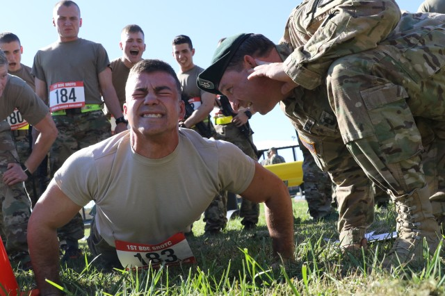 -- The first test for Cadets in 1st Brigade during their Ranger Challenge was a Physical Fitness Test Oct. 26 at Fort Knox, Ky.