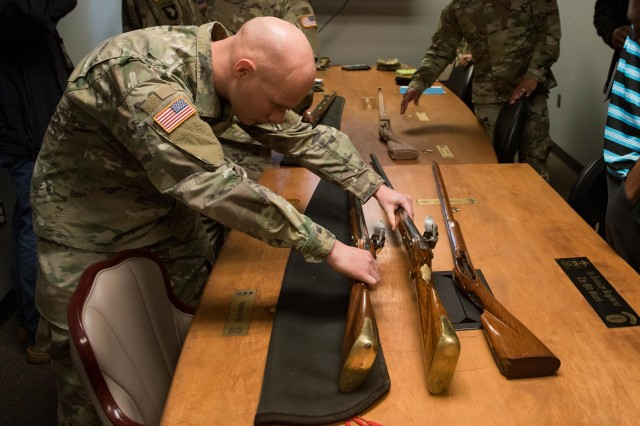 Brown Bess musket refurbishment program team members worked to ensure these weapons were up to the high standards of The Old Guard.