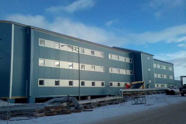 Bldg. 102, a new modern 54 person dormitory for housing enlisted personnel.