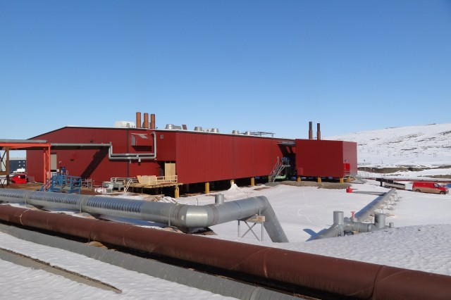 M-Plant, Thule's main power plant that houses the latest energy efficient exhaust gas boilers.