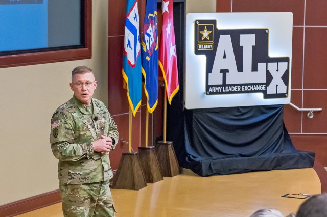 LTG Lundy discusses FM 3-0 and its focus on large scale ground combat operations at a recent Army Leader Exchange at Fort Leavenworth