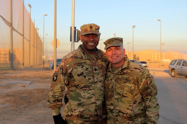 Sgt. Maj. Marc Stevenson and Maj. Gen. Frank Muth made an awesome command team!