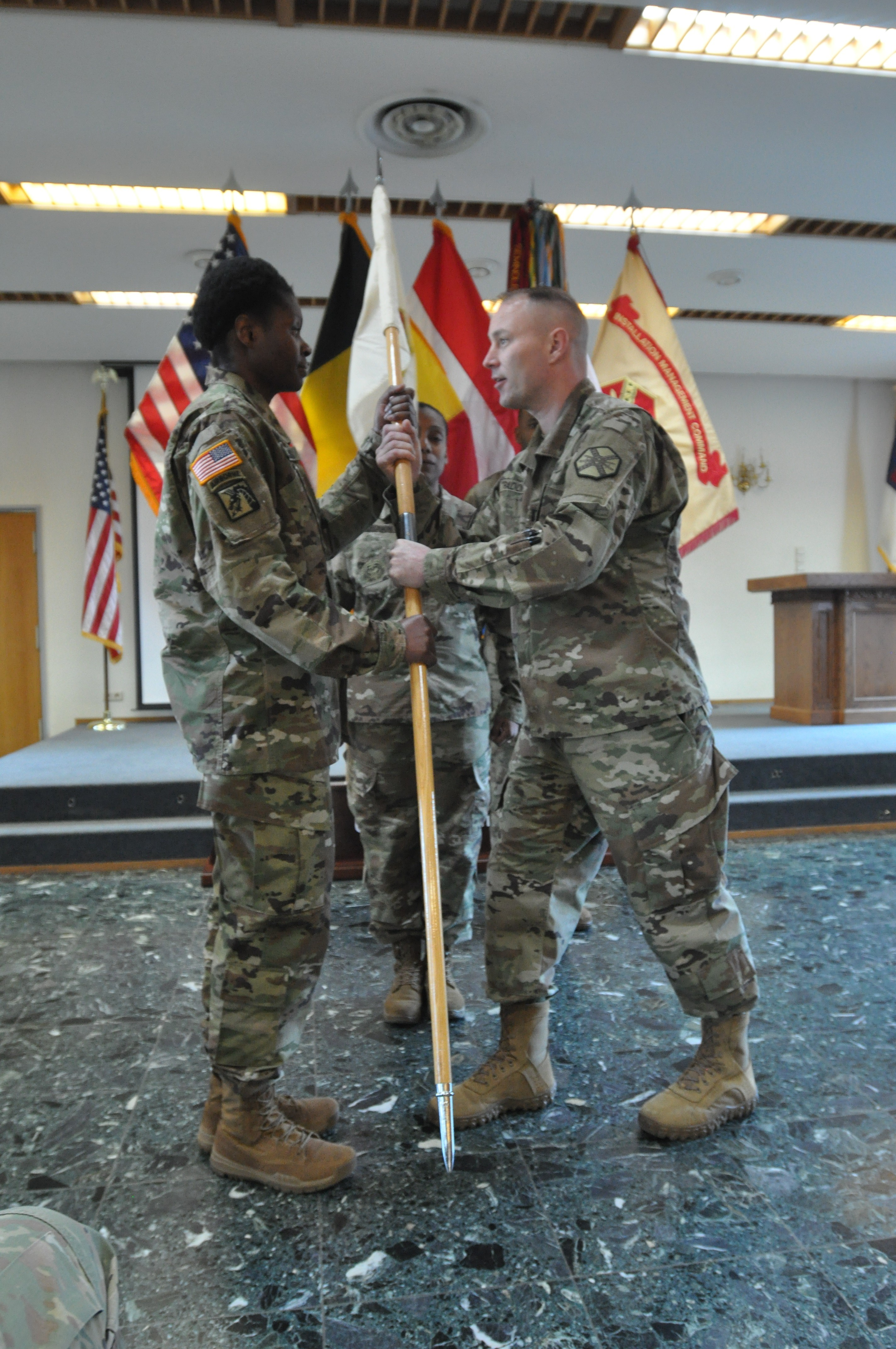 First Sgt. Natalee C. Simms takes responsibility as ...