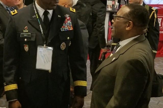 Maj. Gen. Cedric T. Wins at the 2018 BEYA conference.