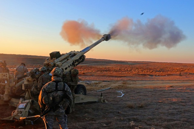 This is the 155mm towed howitzer system, M777A2, that the Indian Army is purchasing from the U.S. government.  The Watervliet Arsenal has just begun manufacturing parts for its $50 million contract that will support the Indian Army.  Airborne Artillerymen assigned to 3rd Battalion, 319th Airborne Field Artillery Regiment, 82nd Airborne Division Artillery conduct live fire missions as the sun was rising over Sicily Drop Zone, on Fort Bragg, N.C. Feb. 8,  2016 after their M777A2 155MM medium howitzer was air dropped in the dark of night from a C-17 aircraft . (Capt. Joe Bush, 82nd Airborne Division Artillery/ Released.)