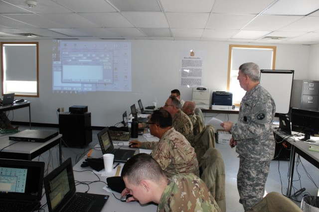 Instructor Sgt. 1st Class Lester Hinton with the 13th Battalion, 100th Regiment teaches students in the 89B Advanced Leader Course on Jan. 16, 2018, at Fort McCoy, Wis. The 13th, 100th is an ordnance battalion that provides training and training support to Soldiers in the ordnance maintenance military occupational specialty (MOS) series. The unit, aligned under the 3rd Brigade, 94th Division of the 80th Training Command, has been at Fort McCoy since about 1995. (U.S. Army Photo by Scott T. Sturkol, Public Affairs Office, Fort McCoy, Wis.)