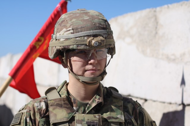 Capt. Christina Johnston, B Battery, 2nd Battalion, 44th Air Defense Artillery, is the second female to take command of that unit. She said she is proud to continue on the legacy of female integration and leadership.