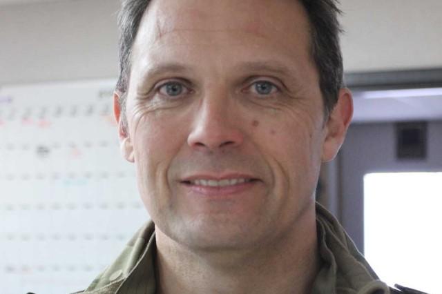 Exchange officer British Army Reserve Lt. Col. Nick Sargent.