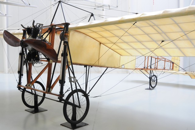 The Bleriot XIII replica sits in the U.S. Army Aviation Museum. The aircraft's creator, Louis Bleriot, became world famous after becoming the first to fly across the English Channel in 1909.