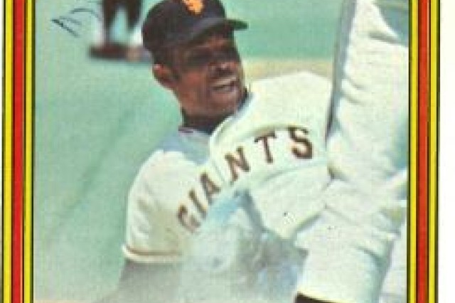 Willie Mays baseball collector's card.