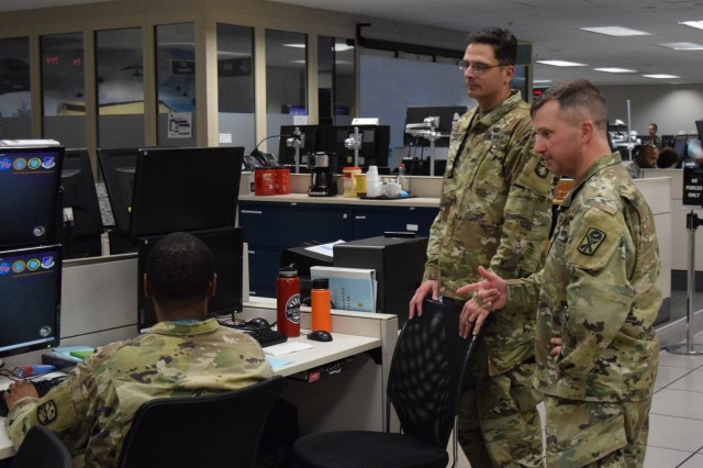Soldiers from the 94th Army Air & Missile Defense Command along with members of the Army National Guard 263rd AAMDC, U.S. Pacific Air Forces, Navy and U.S allies participated in the annual command post exercise Keen Edge 18, held 26 Jan. to 3 Feb. at Joint Base Pearl Harbor Hickam.The exercise allowed service members to hone and refine the steps they would take in the event of a crisis or contingency while executing integrated air and missile defense operations supporting the Pacific theater operation plans.