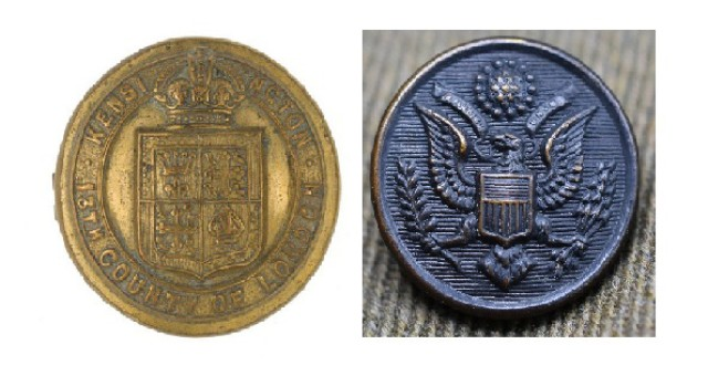 Buttons that caused a problem for 69th Infantry