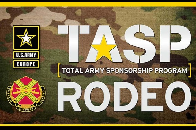 USAG Bavaria's Directorate of Human Resources conducts the Total Army Sponsorship Program Rodeo, or TASP Rodeo, March 15, 2018, beginning at 9 a.m. at the Rose Barracks Multi-Purpose Complex, Bldg. 143, in Vilseck. Sponsors and leaders should attend the TASP Rodeo to improve the overall sponsorship experience of future Soldiers and civilians. Participants can register on-site.