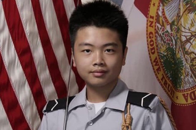 Peter Wang, who was killed in the Stoneman Douglas high school shooting in Florida, has been awarded the JOTC Medal of Heroism for giving his life to help other classmates to escape.