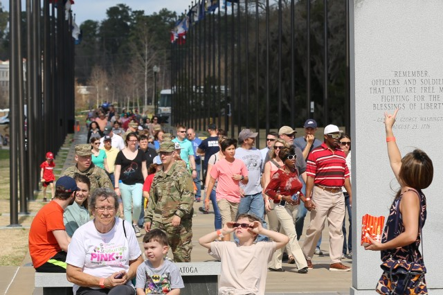 "COLUMBUS, Ga. (Feb. 27, 2018) -- The National Infantry Museum hosted ""Columbus Salutes the Centennial,"" a community-wide celebration of Fort Benning's 100th anniversary, Feb. 24. The event included static displays of armored vehicles and helicopters, and Officer Candidate School students from the Maneuver Center of Excellence dressed in period Army uniforms. The event also included the Silver Wings Parachute Team and robotics and drone demonstrations. (U.S. Army photo by Markeith Horace, Maneuver Center of Excellence, Fort Benning Public Affairs)"