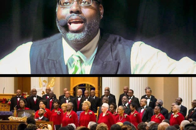 Gregg Allen, chemical engineer for the U.S. Army Chemical Materials Activity, performs with the Community Concert Choir of Baltimore, Inc. during a Christmas concert December 2015 at the United House of Prayer in Baltimore, Md. Along with his government career, Allen finds fulfillment as a singer, actor and small business owner.