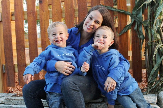 2018 Army Military Spouse off the Year Krista Anderson and her sons pose for a photo in 2014, while at the Hands On Children Museum, Olympia, Washington. Anderson will represent the Army in the overall competition for military spouses to be awarded the honor of Military Spouse of the Year for all of the armed services. There are three phases of voting, culminating in the announcement of the Military Spouse of the Year in Washington, D.C. in early May.