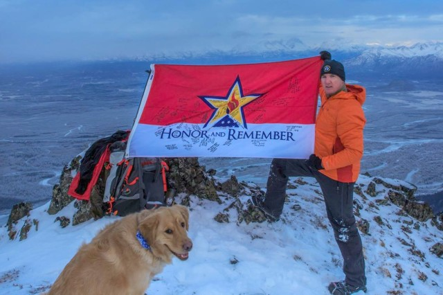 Kirk Alkire, a former first sergeant with the 25th Infantry Division's 4th Brigade Combat Team (Airborne), recently led an effort to name an Alaskan mountain in honor of Gold Star families. Following approval from the U.S. Board of Geographic Names on Feb. 8, 2018, an unnamed 4,148-foot peak near Anchorage is now officially recognized as Gold Star Peak.
