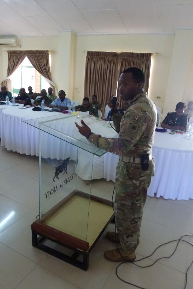 USARAF, Zambian chaplain seminar