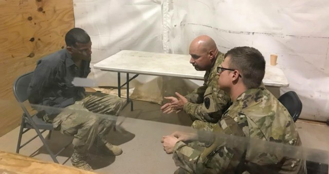 Questioning a detainee role-player