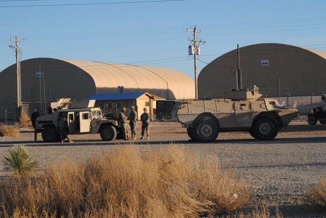 Readying for a military convoy