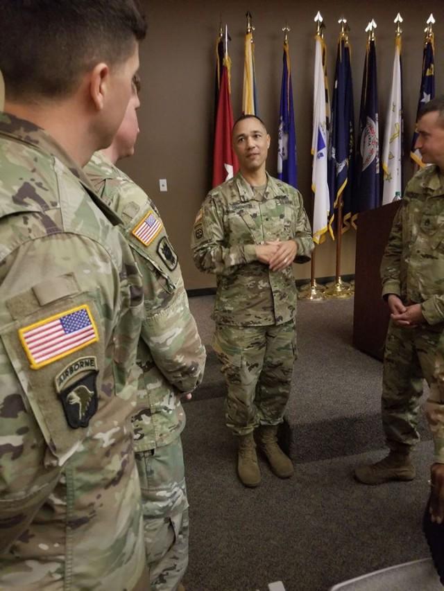 Lion Brigade Soldiers attend professional development with Brig. Gen Edmonson