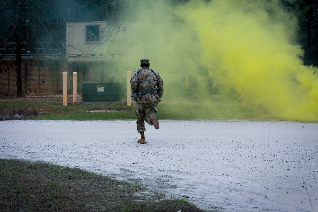 The Military Advisor Training Academy conducted Close Air Support training for Soldiers of the 2nd Security Force Assistance Brigade at the Selby Combined Arms Collective Training Facility Range at Fort Benning, Georgia, Feb. 27, 2018.