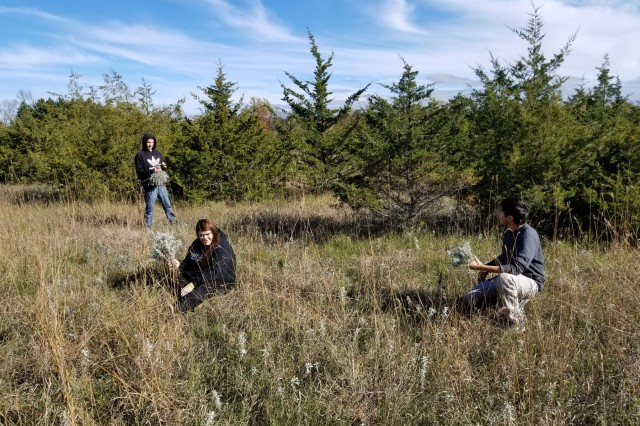 Students of the Bug O Nay Ge Shig school from the Leech Lake Tribe of Ojibwe collecting sage as part of an annual event. The Tribe also toured the recently installed solar field and a new native species prairie restoration project. There have been conversations regarding collecting other plant species as well in the future.