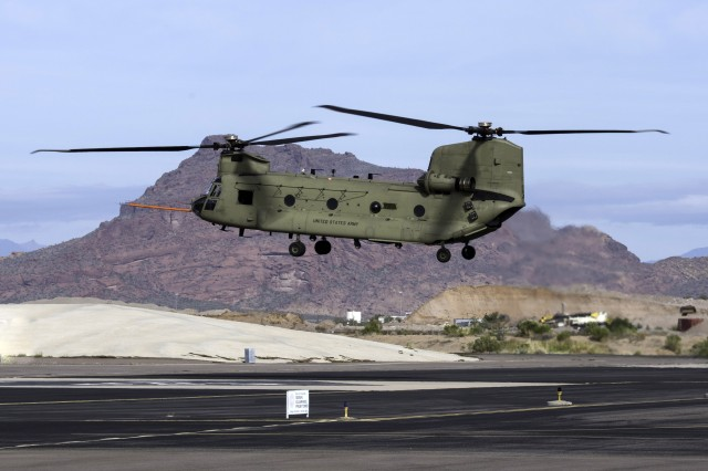 Advanced Chinook Rotor Blade Flight Demonstration on CH-47F.  CH-47F Block II will provide unprecedented advanced technologies to units throughout the world.  Technologies that deliver improved capabilities not only in flight but also during maintenance and support.