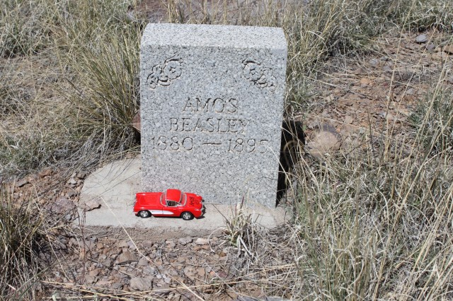 A member of the Dona Ana County Historical Society was a distant relative of the Beasley family.  He asked if he could bring a toy car to place on the grave of one of the Beasley children, who was disabled and did not live to adulthood.  The Canyon is inaccessible to the public, as it is situated behind a major range complex.