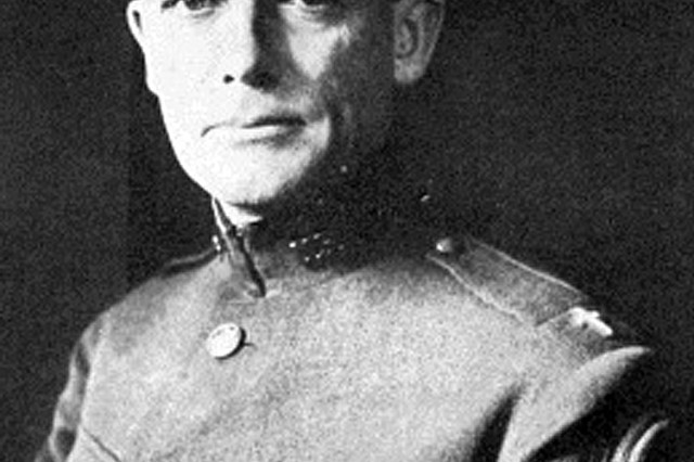 "Army Chaplain (Capt.) Francis Duffy, Regimental Chaplain of the 165th Infantry Regiment, the Army's famous ""Fighting 69th"" Irish regiment. Father Duffy would go on to serve as the division chaplain for the Army's 42nd Infantry ""Rainbow Division"" in 1918."