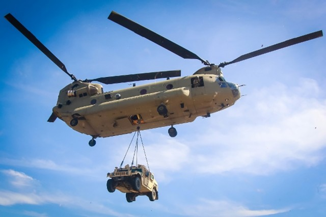 CH-47F provides necessary lift capability in a variety of demanding conditions.  Chinook helicopters have been lifting the Army for over 50 years and will continue into the future.