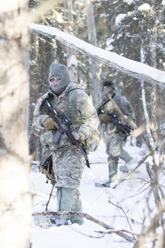 Wyoming National Guard Infantry trains in AK for Arctic Eagle 2018