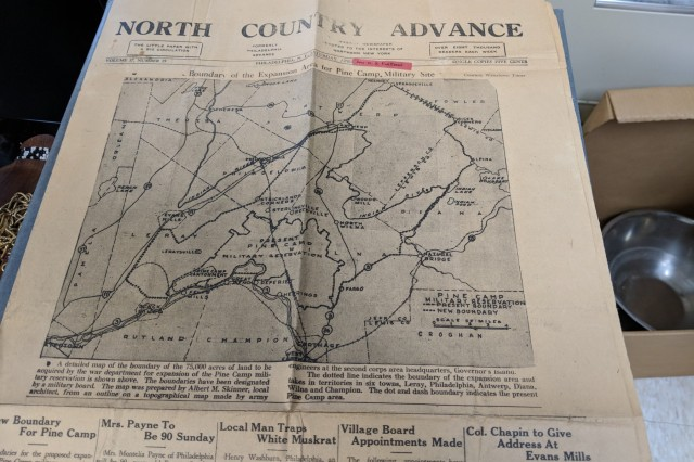 "A collection of newspapers and articles from the 1940s is informing the Fort Drum Cultural Resources staff of the recorded history of Pine Camp and the areas that have become known as the ""Lost Villages."" The staff has digitized and archived the information for future research."