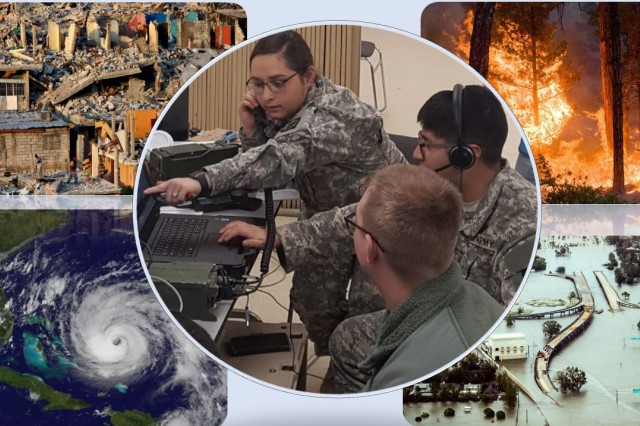 Soldiers from the Illinois Army National Guard train in February 2018 on the Army's Disaster Incident Response Emergency Communications Terminal (DIRECT), which enables National Guard signal units to provide commercial phone and internet access, and commercial Wi-Fi and 4G LTE, to first responders -- military, government and non-governmental -- during domestic natural disasters, emergencies and civil support operations.
