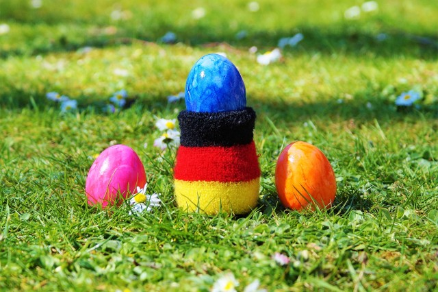 While the German Easter Bunny is popular in most parts of Germany, in others, eggs may be delivered and hidden by the Easter Fox or the Easter Rooster.