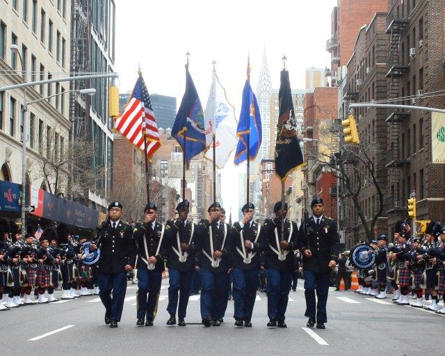 NY National Guard's 'Fighting 69th' leads New York City's St. Patrick's Day parade for 167th time