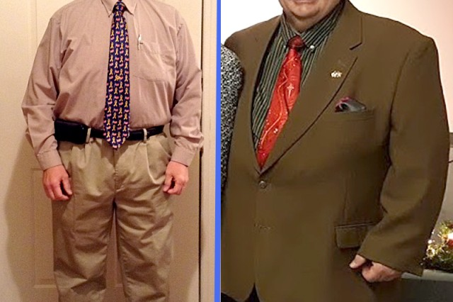 Clarence Garrison, who works on Fort Knox at Human Resource Command, lost 120 pounds after he started using the Fort Knox Army Wellness Center.