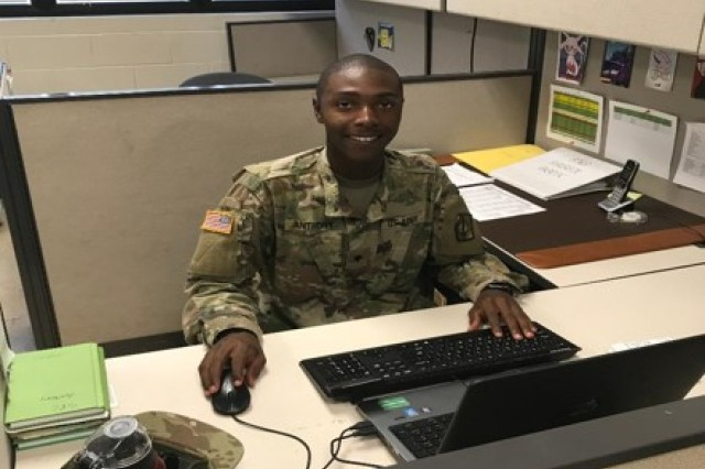 """Being a part of the battalion S6 office can be a challenging but rewarding job. As an information technology specialist, I am responsible for the battalion automations help desk. I take part in ensuring that communications run smoothly throughout the battalion. It gives me great satisfaction in being able to resolve all issues that pertain to user accounts, computers and printers that allow the Soldiers of the 728th Military Police Battalion to have success in their daily duties and accomplish their mission.""-Spc. William J. Anthony, an information technology, on why he enjoys serving in the 728th Military Police Battalion"