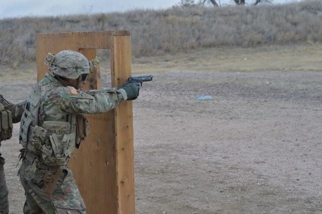 Red Warriors train Pistol Marksmanship