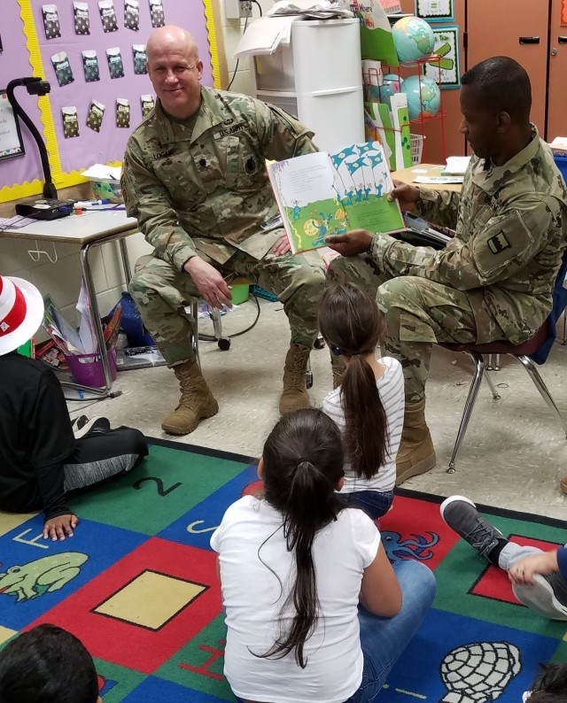 Soldiers Celebrate Dr. Seuss' Birthday with Local Elementary School Children
