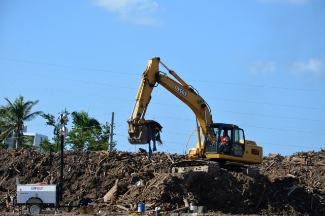 USACE Temporary Debris Removal Site in San Juan, Puerto Rico.