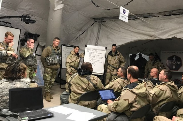 Legal Command Soldiers confront winter conditions during ...