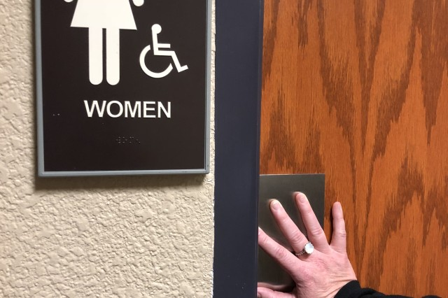 You may not have to live with the frequent or sudden urge to use the restroom if you are among the 25 percent of U.S. women who suffer with incontinence. General Leonard Wood Army Community Hospital has a specialty doctor who might be able to help you. (U.S. Army photo by John Brooks/Released )