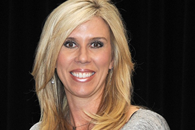 Sarah Thomas, the first female full-time NFL game official was the guest speaker for the 2018 annual observance of Women's History Month, held March 20 at the Detroit Arsenal.