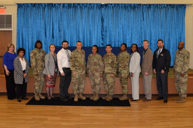 Leaders from throughout the 419th Contracting Support Brigade took part in the 2018 Mission and Installation Contracting Command Acquisition Leaders Training Event March 6-8 at Joint Base San Antonio-Fort Sam Houston, Texas.