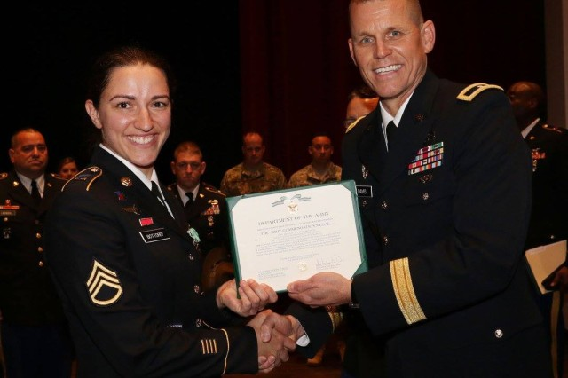 Staff Sgt. Justine Bottorff was named the 98th Training Division's Drill Sergeant of the Year in 2017.