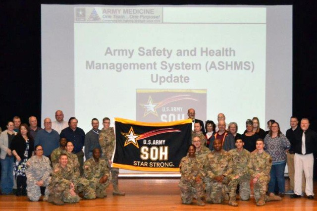 IRAHC was recognized by the Army Safety and Health Management System, as an Army  site—recognition that the clinic has successfully completed a 3-year process, encompassing 243 tasks, toward excellence in safety and health.